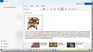 Windows Store Blog Editor post