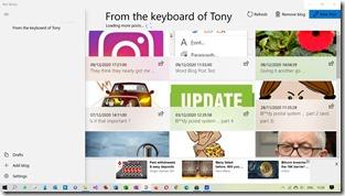 Windows Store Blog Editor screen